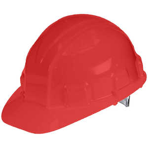 Allsafe Sentry III Hard Hat with Ratchet Suspension, Red