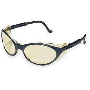 Uvex Bandit Safety Glasses, Ultradura Amber Lens, Black Frame