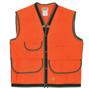 Ben Meadows Cotton Duck 10-Pocket Field Vest, Orange, Medium (44-46
