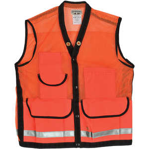 "Ben Meadows High-Visibility Mesh Field Vest with Reflective Stripe, 2XL (56-58"")"