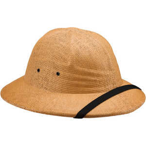 Double-Lacquered Straw Pith Helmet, Tan
