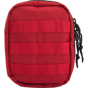 Tactical First Aid Kit with MOLLE Clips, Red