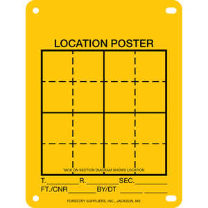 "Aluminum Location Poster, 4"" x 6"", Pack of 100"