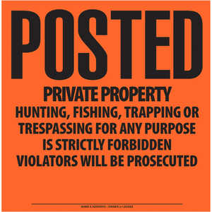 """Posted Private Property"" Aluminum Posted Sign"