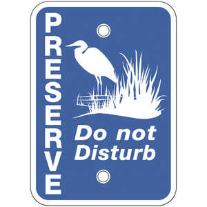 "Preserve - Do Not Disturb Signs, 7"" x 5"", Pack of 10"