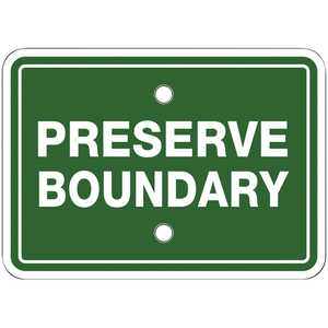 "Preserve Boundary Signs, 7"" x 5"", Pack of 10"