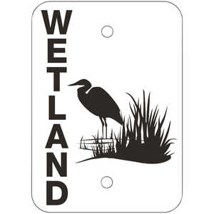 "Wetland Signs, 7"" x 5"", Pack of 10"