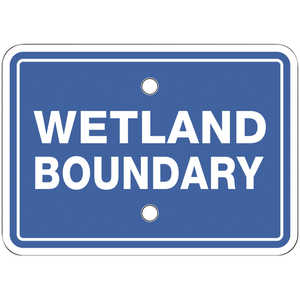 "Wetland Boundary Signs, Horizontal, 7"" x 5"", Pack of 10"