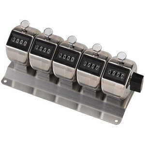 Multiple Counting Unit Tally Counters, 5 Counting Units