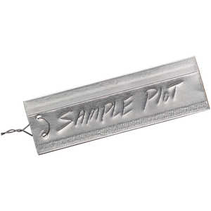 "7/8"" x 3"", Double-Faced Aluminum Tags, Box of 50"