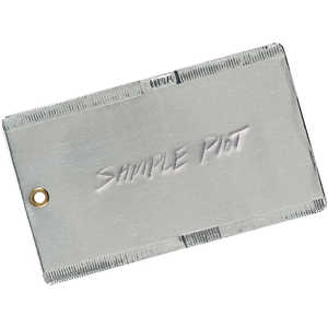 "3"" x 5"", Double-Faced Aluminum Tags, Box of 50"