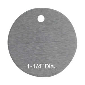 "Round Aluminum Tags, Unnumbered, 1-1/4"" Dia., Box of 100"