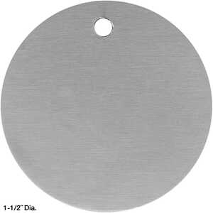 "Round Aluminum Tags, Unnumbered, 1-1/2"" Dia., Box of 100"