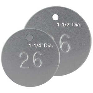 Round Numbered Aluminum Tags