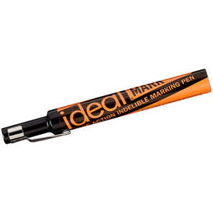 Ideal-Mark Leakproof Indelible Marker, Black