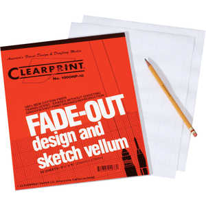 "Tracing Paper with Fade-Out Grid, 16 Lb., 8-1/2""W x 11""L, Pad of 50"