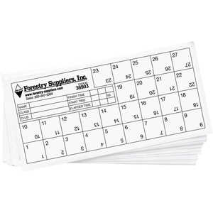 Forestry Suppliers Orienteering Control Cards, Pack of 25