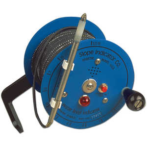 "Slope Water-Level Indicator, 150'L Cable, 8"" dia. Reel"