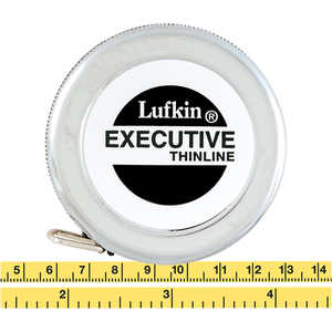 Lufkin Spring Rewind Executive Thinline Diameter Tape Model W606 PM