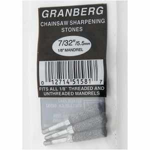 "7/32"" Grinding Wheels Granberg Precision Chainsaw Chain Sharpener, Pack of 3"