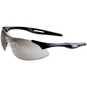 MCR SAFETY Inertia Protective Eyewear, Indoor/Outdoor Lens, Black Frame