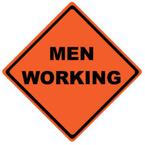 "Roll-Up Traffic Sign, ""Men Working"", 48"""
