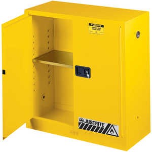Justrite 30-Gallon Capacity Safety Can Cabinet