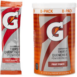 Gatorade Powder Packs, Fruit Punch, Pack of 8
