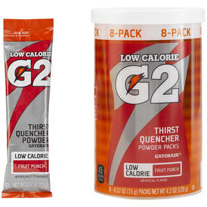Gatorade G2 Powder Packs, Fruit Punch, Pack of 8