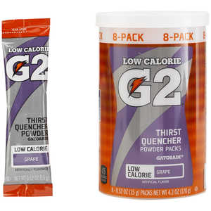 Gatorade G2 Powder Packs, Grape, Pack of 8