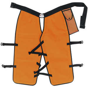 "Sawbuck Four-Ply Para-Aramid Standard Coverage Chain Saw Chaps, 32"" L, Safety Orange"