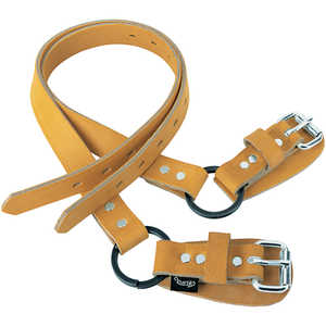 "Weaver Tree/Pole Climbers 26"" Leather Ankle Straps w/Split Ring, Pair"