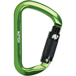 Notch D-Shape Aluminum Carabiner