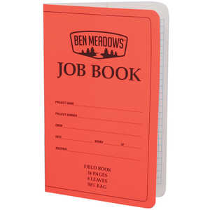 Ben Meadows One-Job Field Books, 16 Pages, Pack of 6