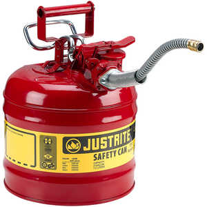 Justrite Type II AccuFlow Safety Can, Red, 2-Gallon