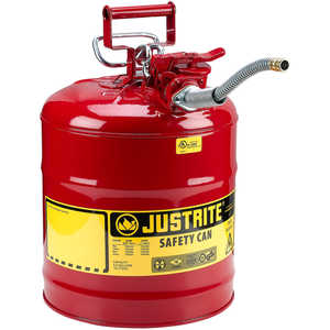 Justrite Type II AccuFlow Safety Can, Red, 5-Gallon