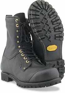SwedePro Leather Chain Saw Boots, Size 13