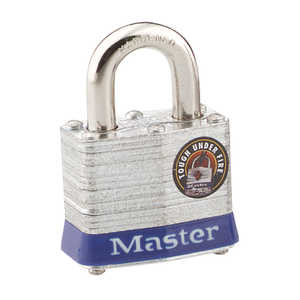 Master Lock Laminated Steel Pin Tumbler Padlock, Keyed Alike, Pk. of 1