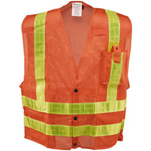"ANSI Class 2 Premium Mesh Surveyor's Vest, Medium, 36""-38"" Chest"
