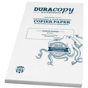 "DuraCopy Waterproof Copier/Laser Printer Paper, 11"" x 17"", 100 Sheets"