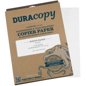"DuraCopy Waterproof Copier/Laser Printer Paper, 8.5"" x 11"", 100 Sheets"