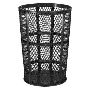 Expanded Steel Street Basket, Black