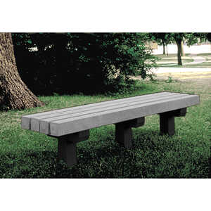 Park Bench, 6'L, Gray