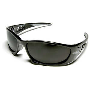 Wolf Peak Baretti Safety Eyewear, Smoke Lenses, Black Frames