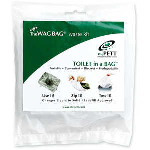 Cleanwaste GO Anywhere Toilet Kits, Pack of 100