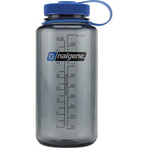 Gray, Nalgene Wide Mouth Water Bottle, 32oz