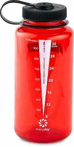 Ruby Red, Nalgene Wide Mouth Water Bottle, 32oz.