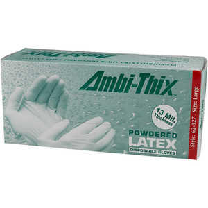 "Disposable 13 mil Powdered Latex Gloves with 12"" Cuff"