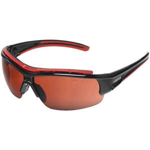 Elvex Impact 300 Series Safety Sunglasses, Black Frame, Blue Blocker HC Lens