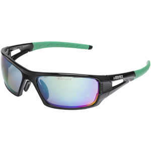 Elvex Impact 400 Series Safety Sunglasses, Black Frame, Green HC Lens